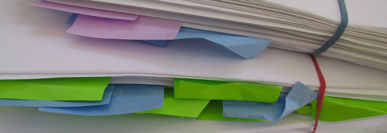 A pile of edited pages