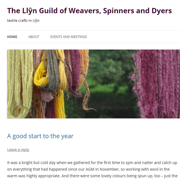 Blog for the Llyn Weavers, Spinners and Dyers, managed by Kate Santon